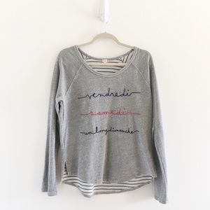 Anthropologie T.la Longhand French Sweatshirt